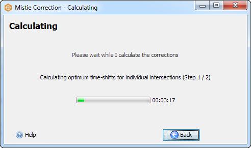 Calculate mistie corrections