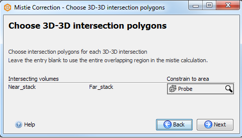 Choose 3D-3D intersection polygons