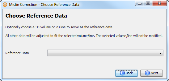 Choose reference data