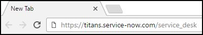 IT Service Desk URL
