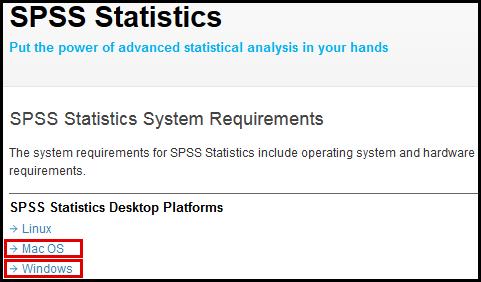 SPSS Statistics website
