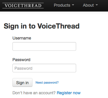 Sign in to VoiceThread
