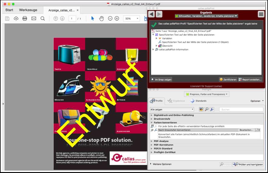 Verwendung von Features, die nur in pdfToolbox verfügbar sind