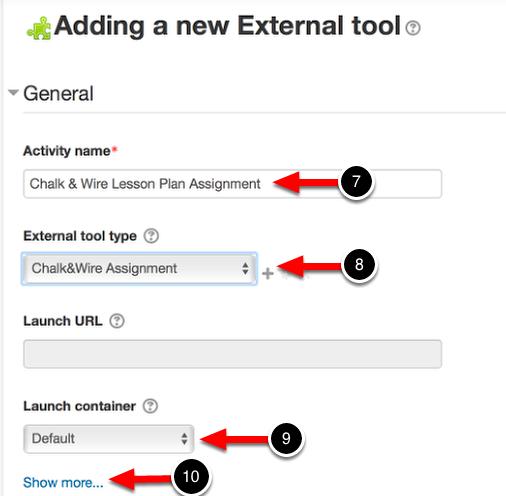 Step 3: Enter External Tool Information