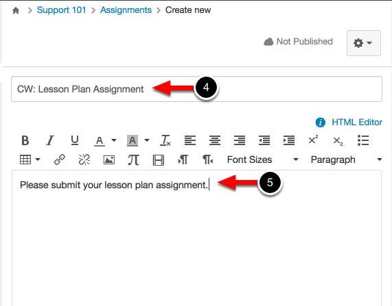 Step 3: Create a New Assignment