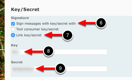Step 3: Enter Key/Secret