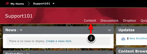 Step 2: Select Content