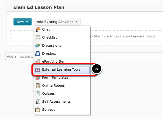 Step 4: Link Learning Tool to Module