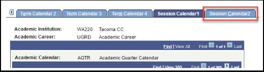 Session Calendar 2