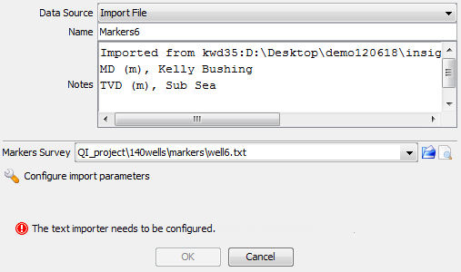 Import a marker file