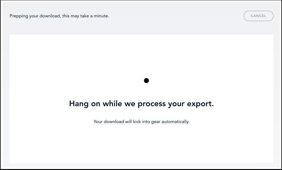 Voir le fichier d'exportation