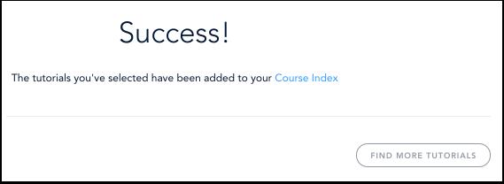 Voir la notification de l'index de cours