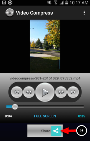 Step 5: Share Compressed Video