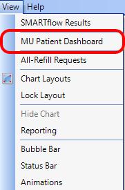 3. Open the MU Patient Dashboard
