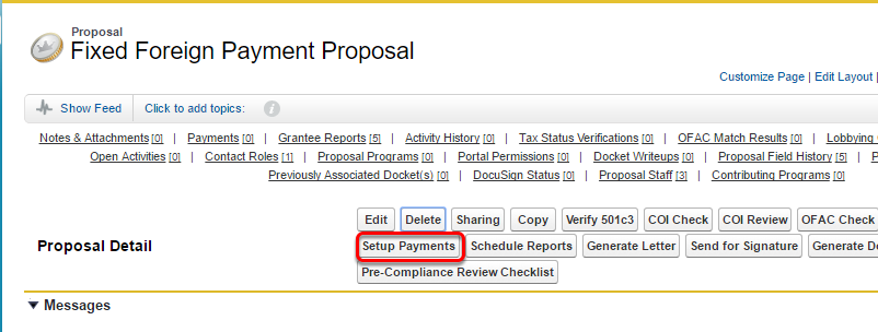 Click on the Schedule Payments button.