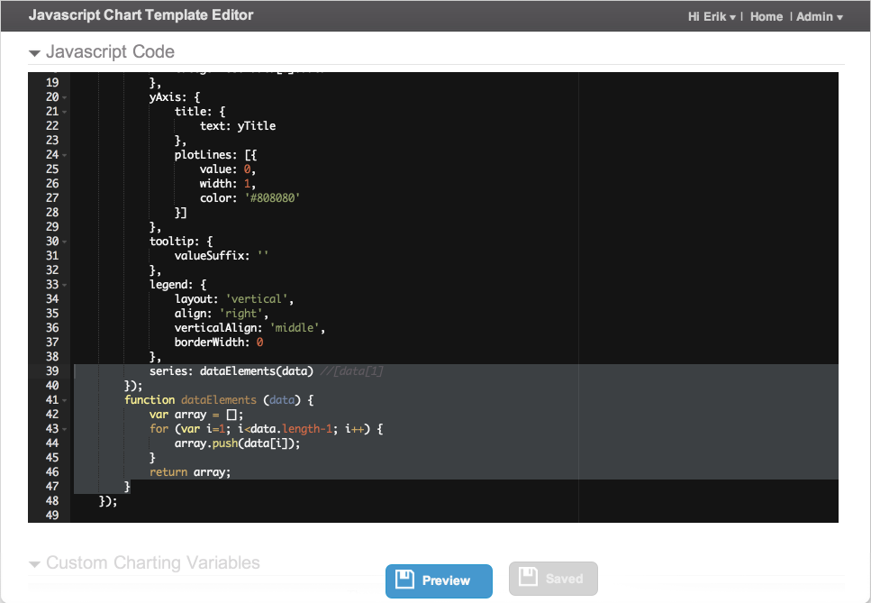 JavaScript Code - save changes