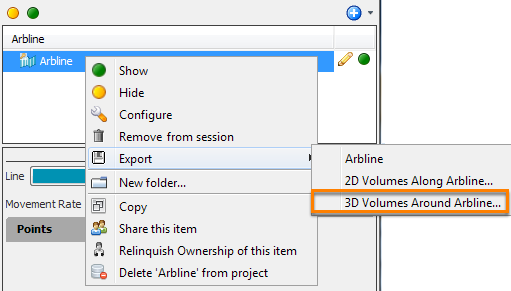 Save arbline data as a 3D volume