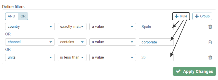 Rule (Simple Filter Criteria)