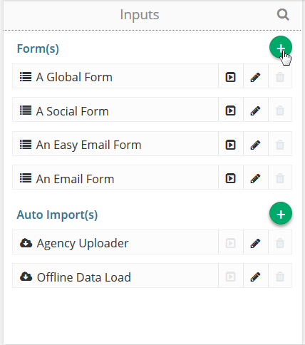 Click on the Add New Form button.