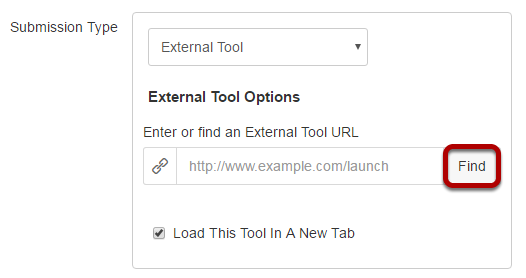 Under External Tool Options, click Find.