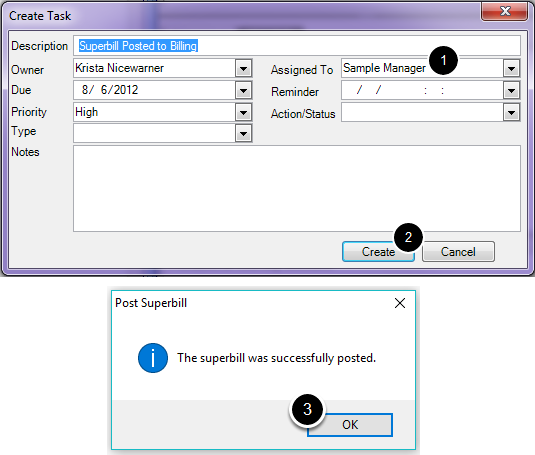 7. Add Document Task for Superbill Posted