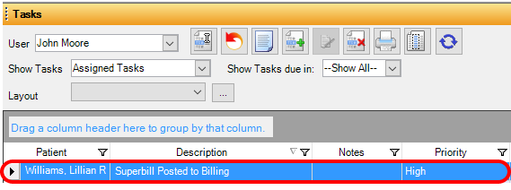 8. Open New Charges from Task List