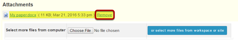 Remove past submission.