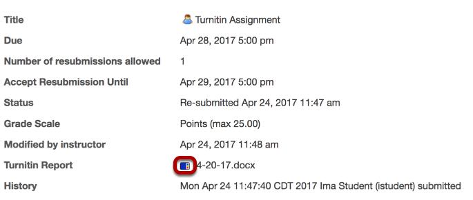 Select Turnitin Icon.