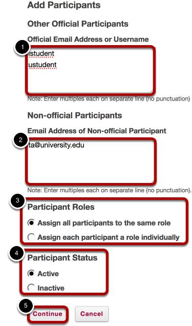 Add participants information.