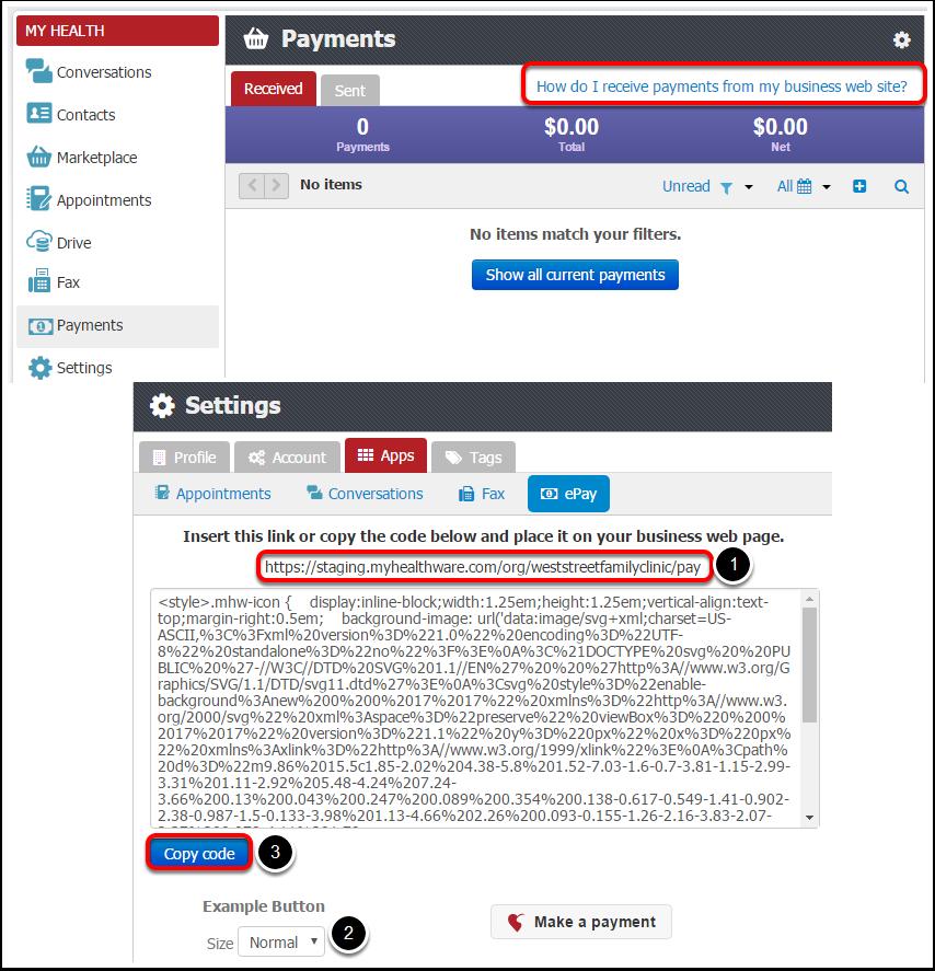 Add ePay Button to Website