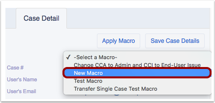 Select Macro