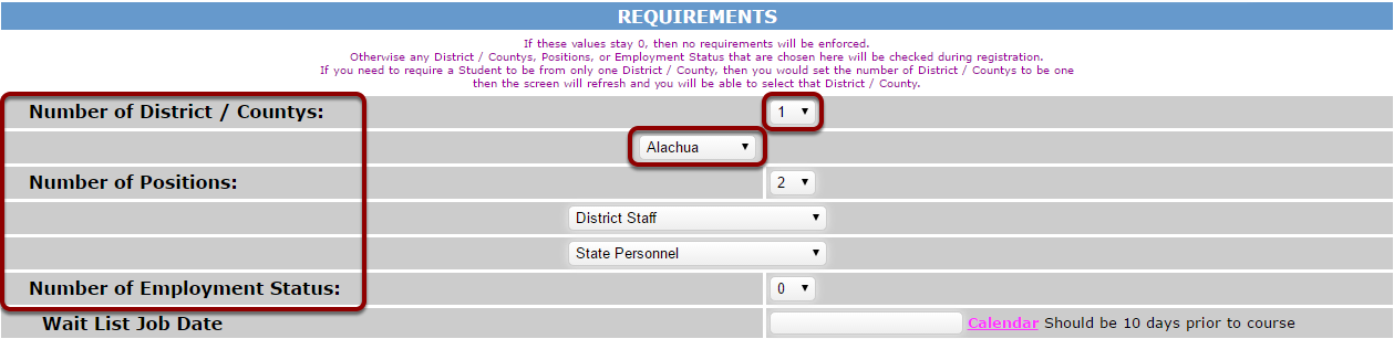 4) Add Requirements to Courses