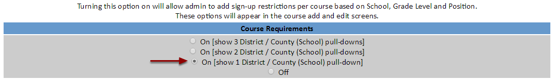 3) Enable Course Requirements