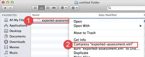 Create ZIP File: for Mac Users
