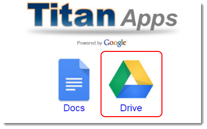 Google Drive icon is selected.