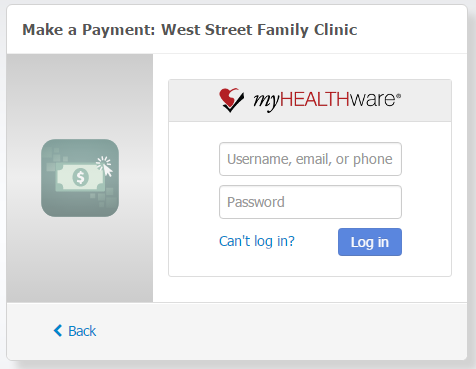 Make a Payment in myHEALTHware