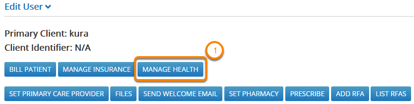 Go To The Manage Health Page