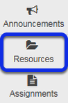 To access this tool, select Resources from the Tool Menu in your site.