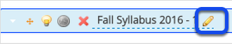 Edit the heading of a syllabus item.