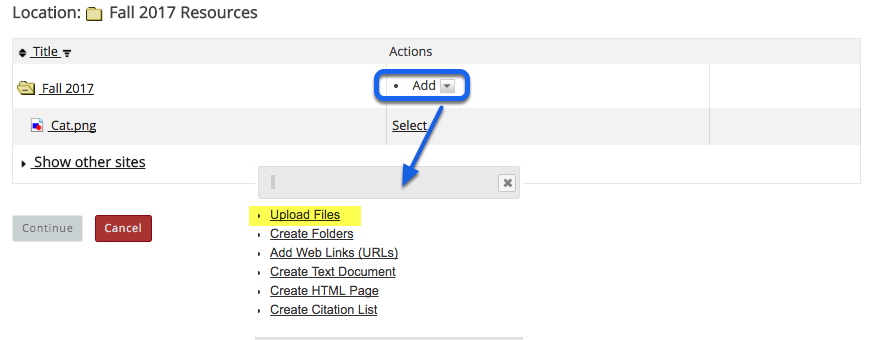 Or, upload the file.