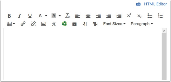 Open the Rich Content Editor using one of the Canvas features which support the Editor.