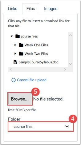 screenshot of content selector panel