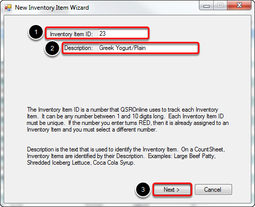 Creating Inventory Item ID and Name