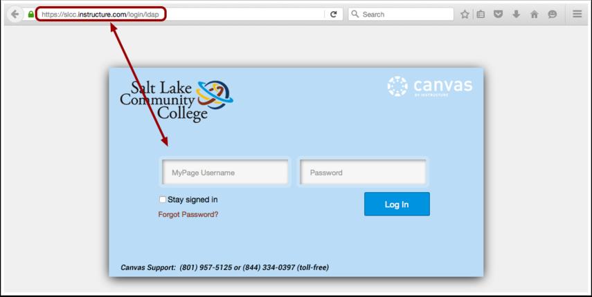 Få tillgång till Canvas via Canvas URL
