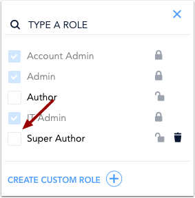 Assign Custom Role