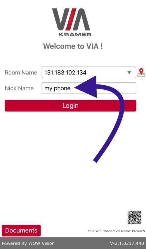 Type a Nick Name