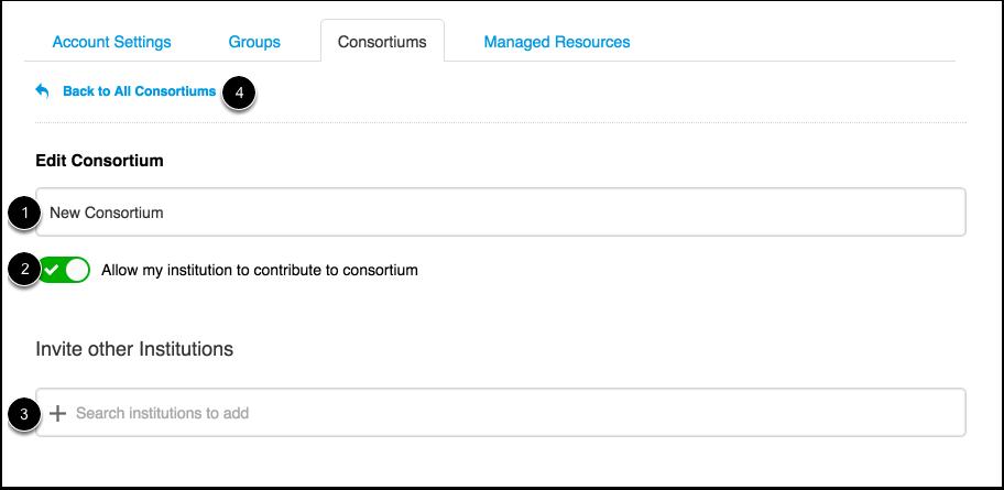Edit Consortium Details