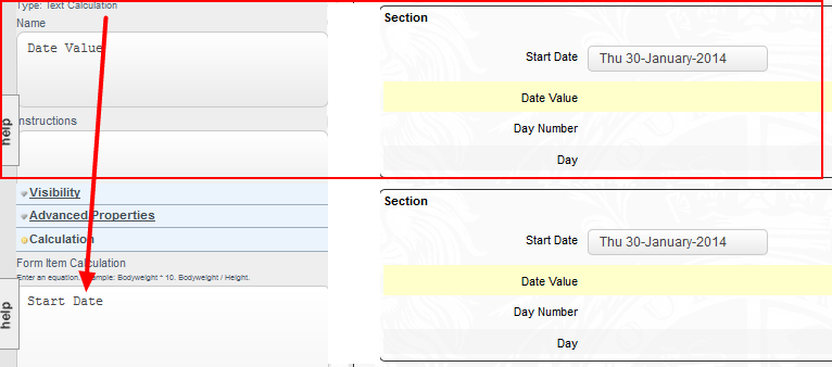 Add in a Text Calculation to return the Date Field. This will be set to be hidden in the Event form.