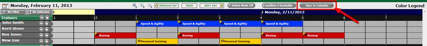 Sync to Calendar