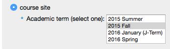 Select an academic term.